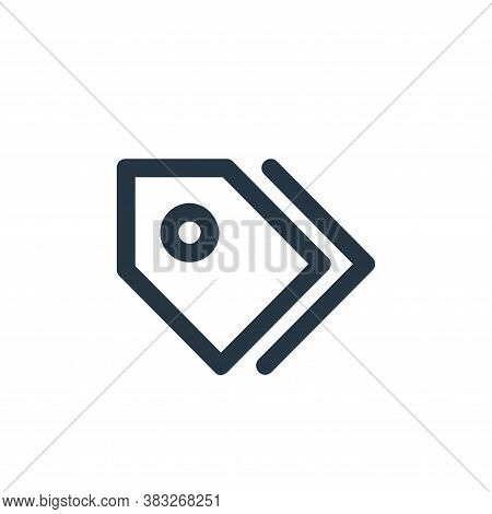 tag icon isolated on white background from business and management collection. tag icon trendy and m