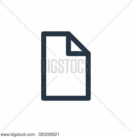 file icon isolated on white background from business and management collection. file icon trendy and