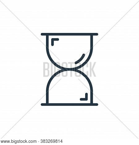 hourglass icon isolated on white background from busines and finace collection. hourglass icon trend