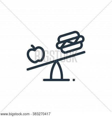 healthy food icon isolated on white background from nutrition collection. healthy food icon trendy a