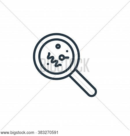 magnifying glass icon isolated on white background from microorganism collection. magnifying glass i