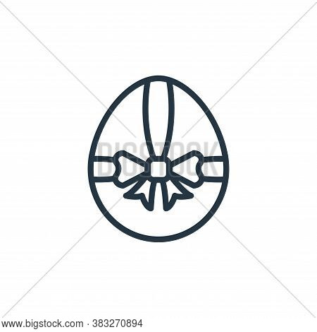 egg icon isolated on white background from easter collection. egg icon trendy and modern egg symbol