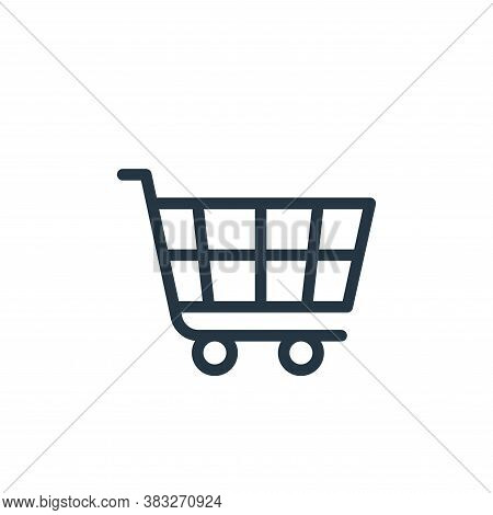 cart icon isolated on white background from ecommerce line collection. cart icon trendy and modern c