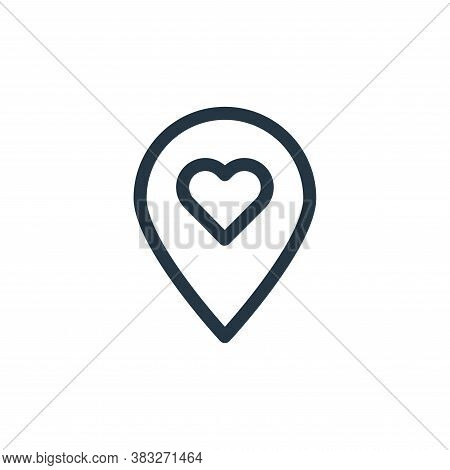 pin icon isolated on white background from valentines day collection. pin icon trendy and modern pin