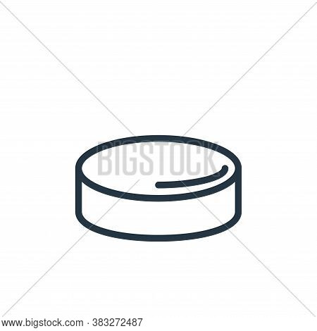 hockey puck icon isolated on white background from sports collection. hockey puck icon trendy and mo
