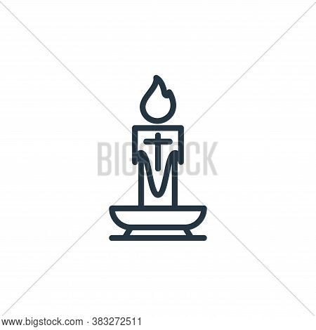 candle icon isolated on white background from easter collection. candle icon trendy and modern candl