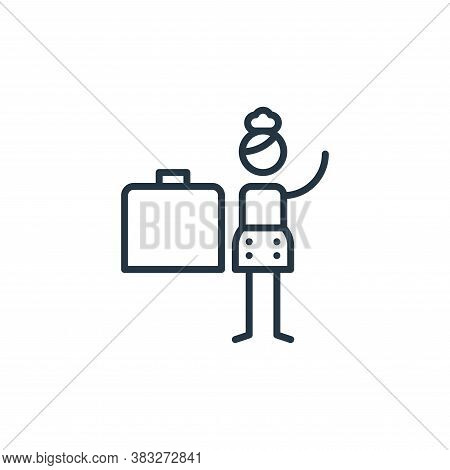briefcase icon isolated on white background from graphic design collection. briefcase icon trendy an
