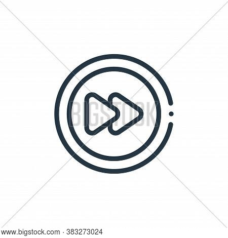 fast forward icon isolated on white background from music collection. fast forward icon trendy and m