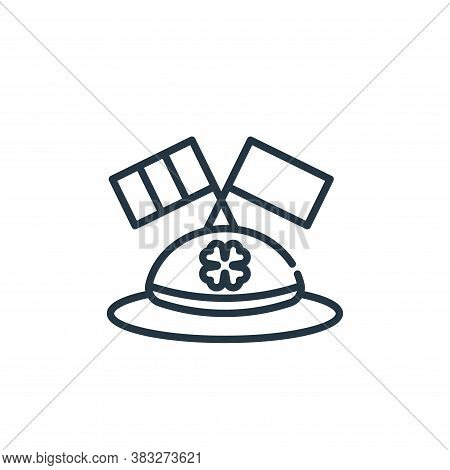 hat icon isolated on white background from st patrick day collection. hat icon trendy and modern hat