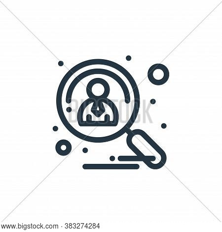 applicants icon isolated on white background from management collection. applicants icon trendy and