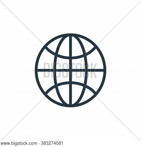 world icon isolated on white background from busines and finace collection. world icon trendy and mo