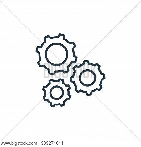 gears icon isolated on white background from labour day collection. gears icon trendy and modern gea