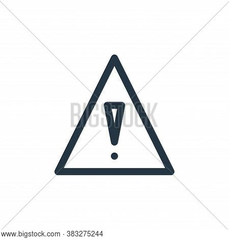 danger icon isolated on white background from nuclear energy collection. danger icon trendy and mode