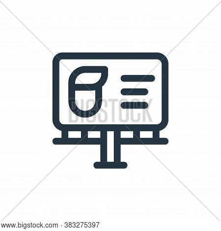 billboard icon isolated on white background from voting elections collection. billboard icon trendy