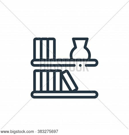 wall shelves icon isolated on white background from furniture collection. wall shelves icon trendy a