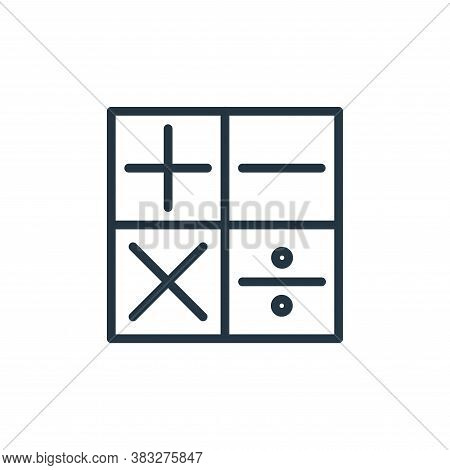 calculator icon isolated on white background from busines and finace collection. calculator icon tre