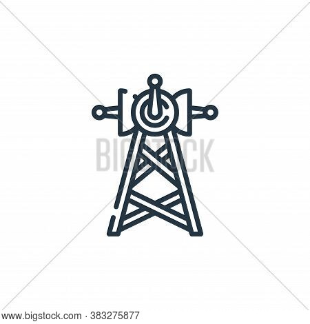antenna icon isolated on white background from public services collection. antenna icon trendy and m
