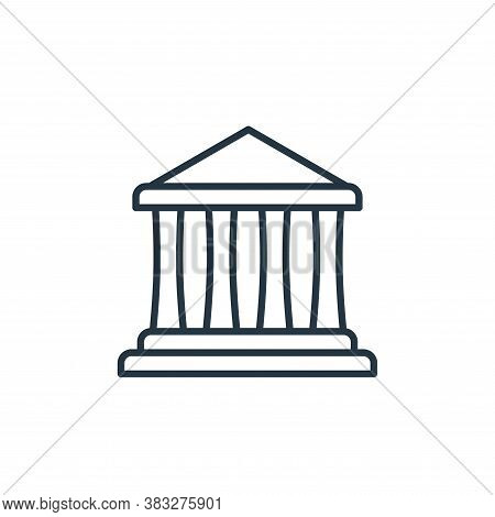 courthouse icon isolated on white background from law collection. courthouse icon trendy and modern
