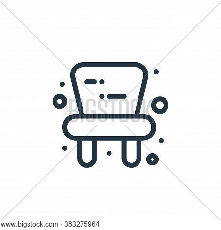 baby chair icon isolated on white background from baby shower collection. baby chair icon trendy and