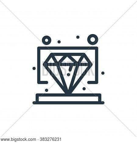 diamond icon isolated on white background from management collection. diamond icon trendy and modern