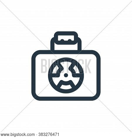 nuclear icon isolated on white background from nuclear energy collection. nuclear icon trendy and mo