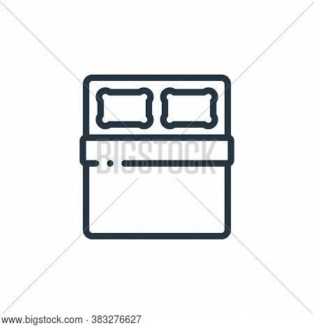 double bed icon isolated on white background from furniture collection. double bed icon trendy and m