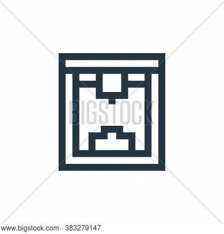d printer icon isolated on white background from futuristic technology collection. d printer icon tr