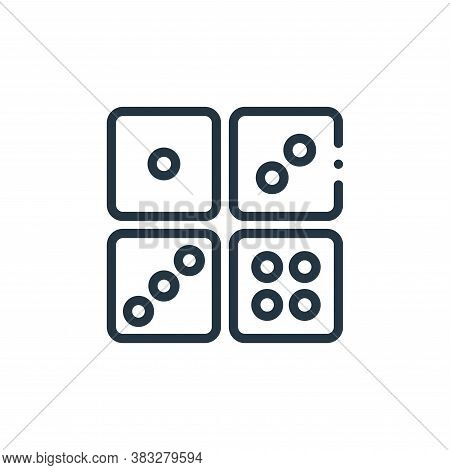 dices icon isolated on white background from magic collection. dices icon trendy and modern dices sy