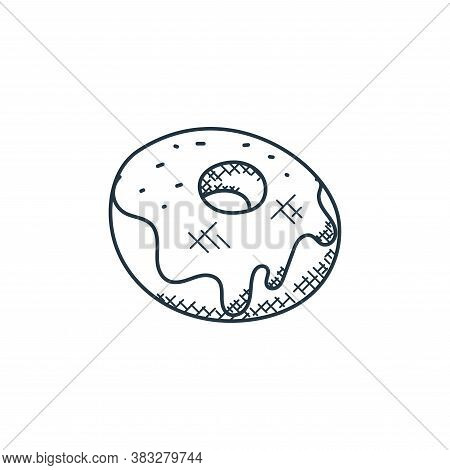 donut icon isolated on white background from food collection. donut icon trendy and modern donut sym