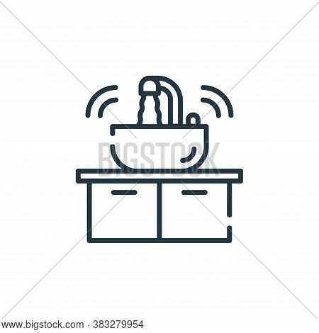 sink icon isolated on white background from smarthome collection. sink icon trendy and modern sink s