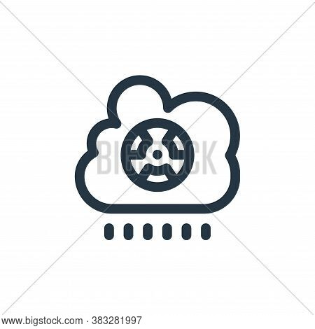rain icon isolated on white background from nuclear energy collection. rain icon trendy and modern r