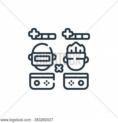 gamer icon isolated on white background from esports collection. gamer icon trendy and modern gamer