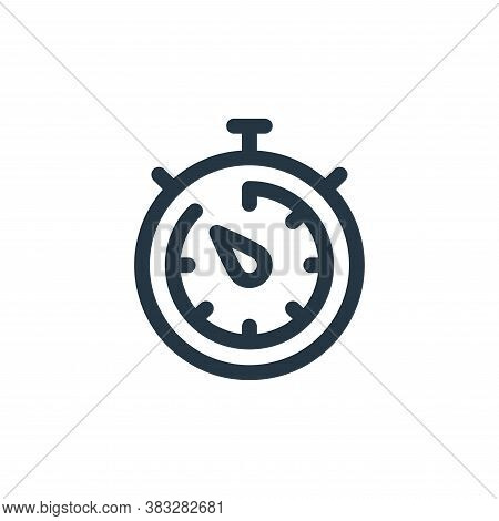chronometer icon isolated on white background from customer service collection. chronometer icon tre