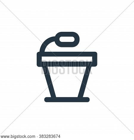 podium icon isolated on white background from business and management collection. podium icon trendy