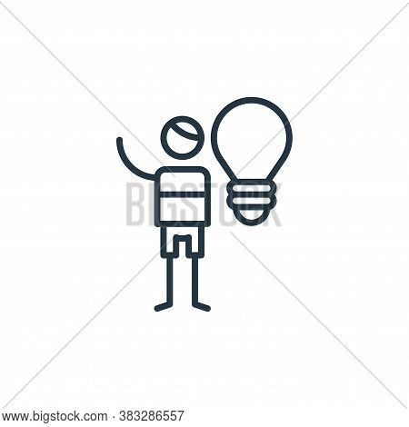 idea icon isolated on white background from graphic design collection. idea icon trendy and modern i