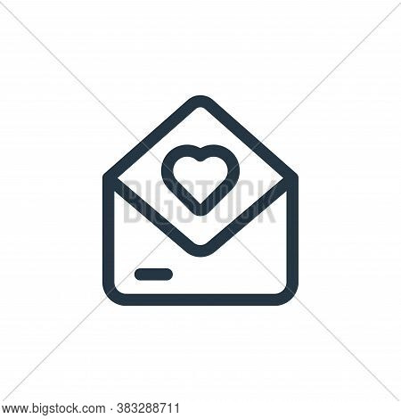 mail icon isolated on white background from valentine collection. mail icon trendy and modern mail s