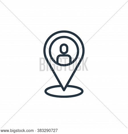 location icon isolated on white background from social media collection. location icon trendy and mo