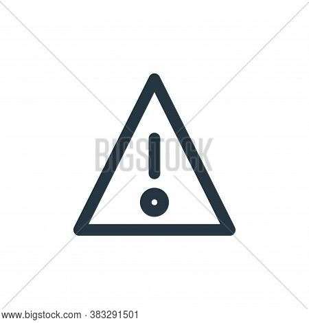 warning icon isolated on white background from sign symbol collection. warning icon trendy and moder