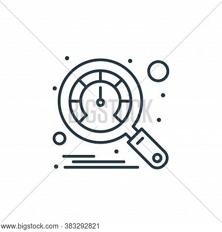 speedometer icon isolated on white background from seo collection. speedometer icon trendy and moder
