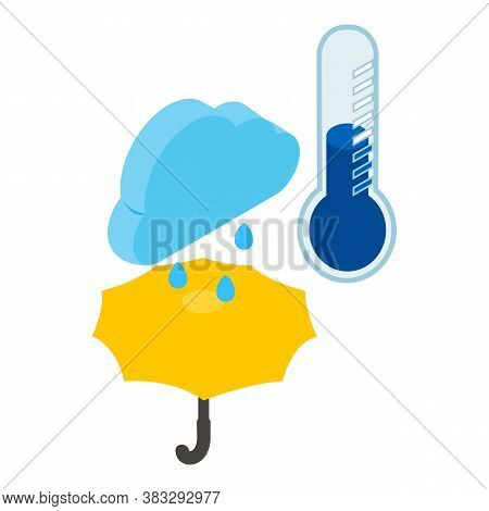 Weather Forecast Icon. Isometric Illustration Of Weather Forecast Vector Icon For Web