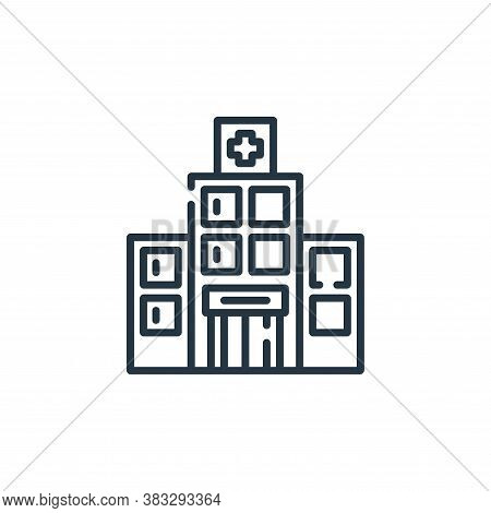 hospital icon isolated on white background from public services collection. hospital icon trendy and