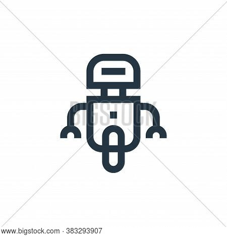 robot icon isolated on white background from futuristic technology collection. robot icon trendy and