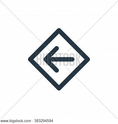 left icon isolated on white background from sign symbol collection. left icon trendy and modern left