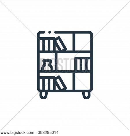 shelf icon isolated on white background from furniture collection. shelf icon trendy and modern shel