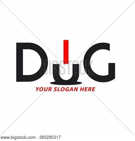 Creative And Dug Logo Design Vector Illustration