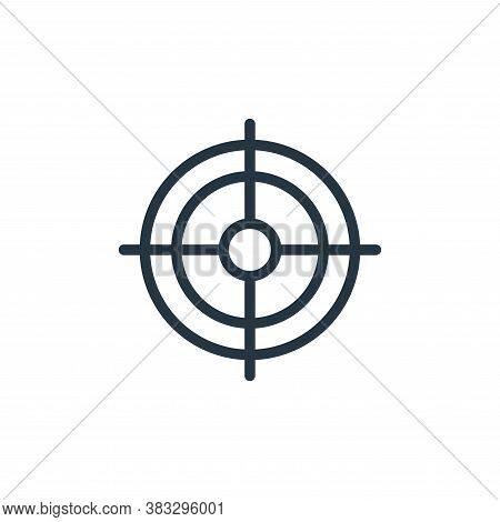 target icon isolated on white background from sports collection. target icon trendy and modern targe