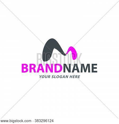 Creative Curvy Letter M Logo Design Vector