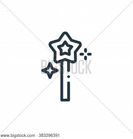 magic wand icon isolated on white background from magic collection. magic wand icon trendy and moder