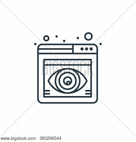 browser icon isolated on white background from seo collection. browser icon trendy and modern browse