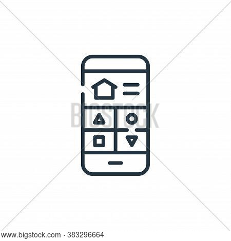 mobile phone icon isolated on white background from smarthome collection. mobile phone icon trendy a